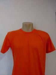 Camiseta lisa Laranja 100% Poliéster para sublimação