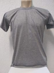Camiseta lisa cinza mescla 100 % poliester  para sublimação