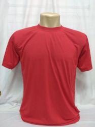 Camiseta lisa VERMELHA  100% poliéster para sublimação