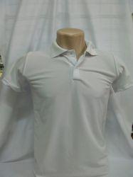 Polo Piquet dry  lisa branca 100%poliéster para  sublimação