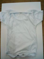 Body manga CURTA para bebê branco para sublimação