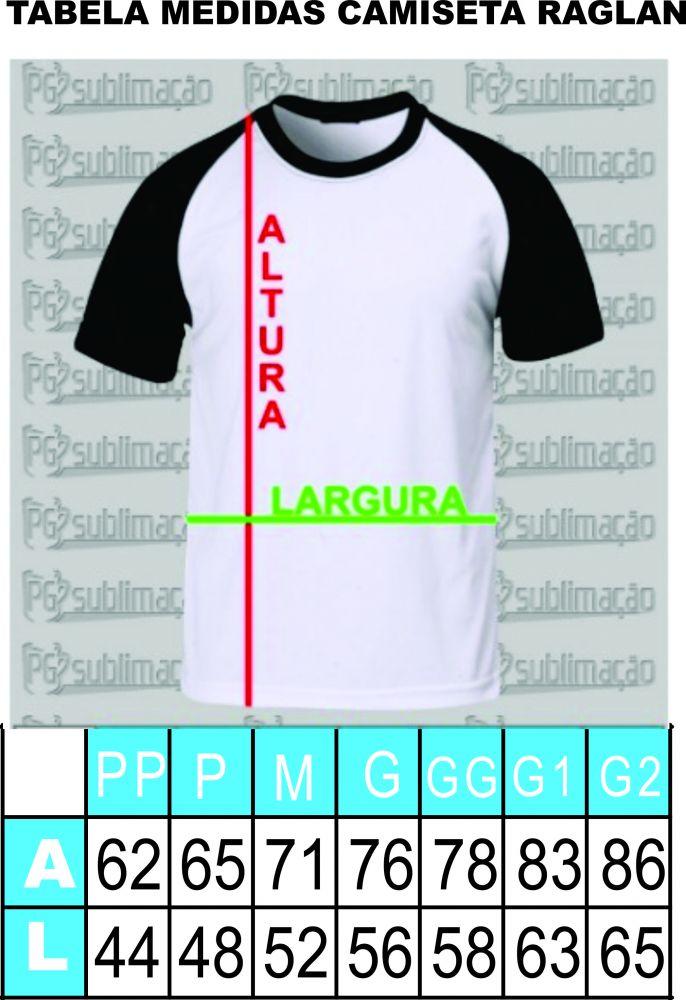 d752539c8e0a Distribuidora Pg Sublimação - Camiseta raglan cinza mescla com ...