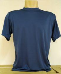 Camiseta Dry fit 100% poliéster para sublimação azul marinho