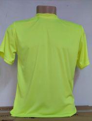 Camiseta Dry fit 100% poliéster para sublimação amarelo limão