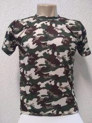 Camiseta dry fit infantil camuflado USA 100% poliester