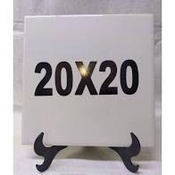 Azulejo 20x20 branco resinado para subliação  com suporte
