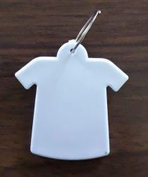 Chaveiro  de polímero formato camiseta  para sublimação